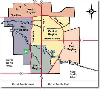 Regina MLS Property Map
